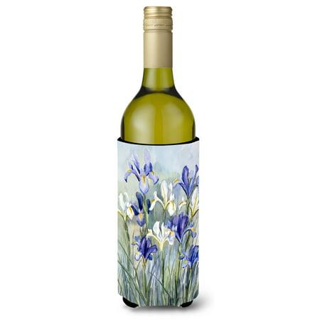 Iris by Bettie Cheesman Wine Bottle Beverage Insulator Hugger CBC0033LITERK (3/8 Th Inch Insulators)