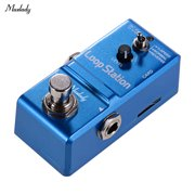 Muslady Loop Station Mini Guitar Looper Effect Pedal 10 Minutes Recording Time 3 Working Modes True Bypass Full Metal Shell with 1GB Memory Card