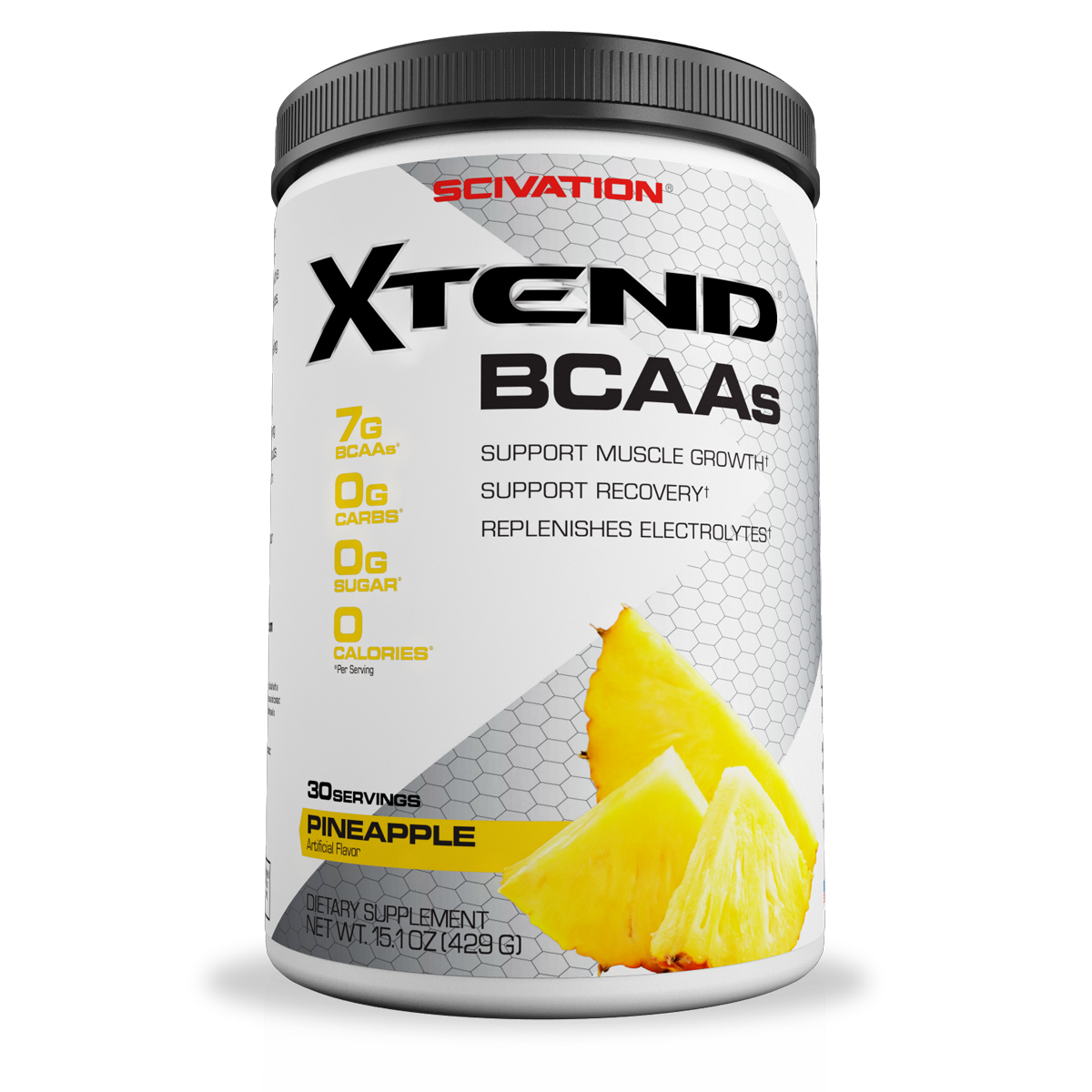 Scivation Xtend BCAA Powder, Pineapple, 30 Servings