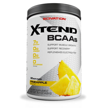 Scivation Xtend BCAA Powder, Pineapple, 30 Servings