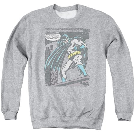 Batman DC Comics Retro Faded Bat Origins Comic Panel Adult Crewneck Sweatshirt - Batman Sweater