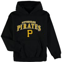 Pittsburgh Pirates Stitches Youth Team Fleece Pullover Hoodie - Black