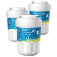 Waterdrop MWF Refrigerator Water Filter, NSF 53&42 Certified to Reduce 99% Lead, Compatible with GE SmartWater MWF, MWFINT, MWFP, MWFA, GWF, HDX FMG-1, GSE25GSHECSS, WFC1201, Kenmore 9991, 3 Pack