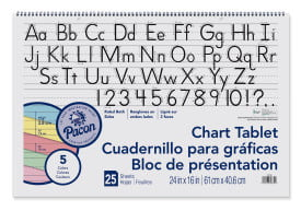 24 x 16 Inches School Smart Chart Tablet 1 Inch Ruled 30 Sheets