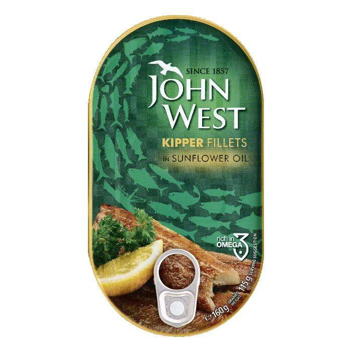 BWI John West Kipper Fillets, 5.6 oz