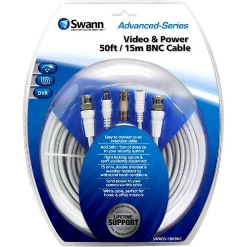 Swann Video & Power 50ft / 15m BNC Cable