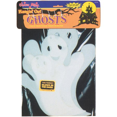 Glow-in-the-Dark Hanging Ghost Halloween Decoration (Halloween Ghost Projector)