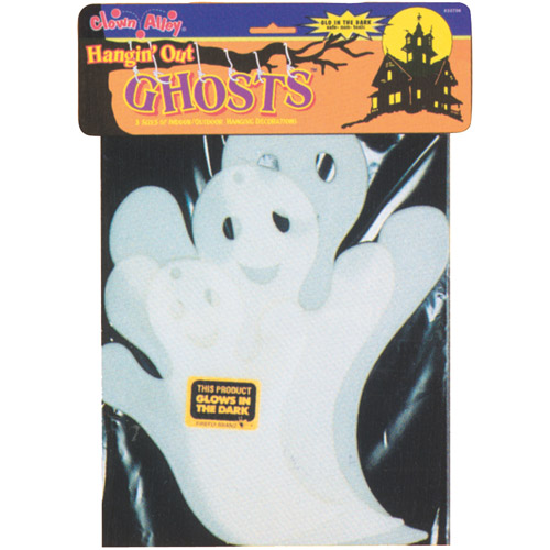 Glow-in-the-Dark Hanging Ghost Halloween Decoration
