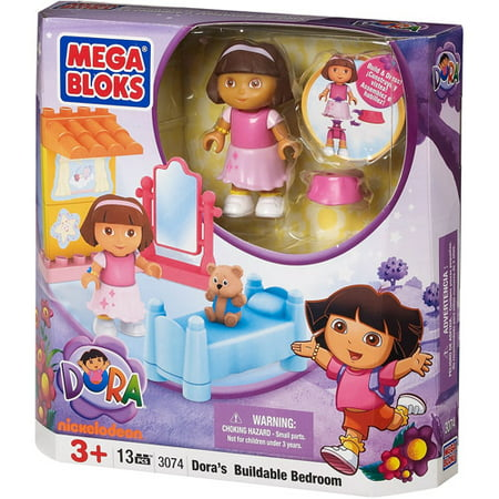 mega bloks dora the explorer doras buildable bedroom set 3074