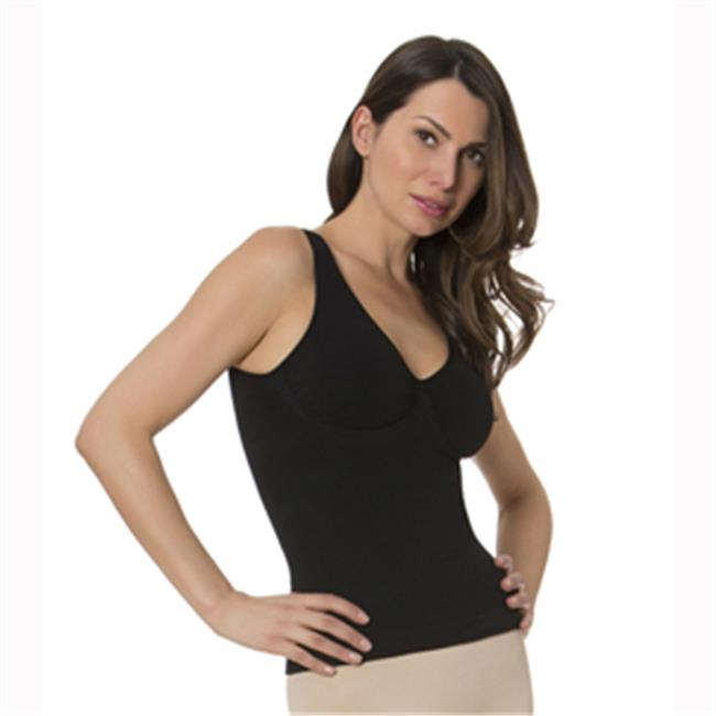 N Fini 573 Double V Neck Tank with Built-in Soft Bra, Lar...