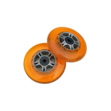SET OF 2 Orange REPLACEMENT SCOOTER WHEELS for RAZOR ()