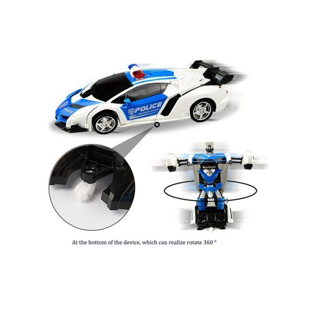 Kids Rechargeable Remote Control Deformation Car Robot Toy Caroj - image 2 of 6