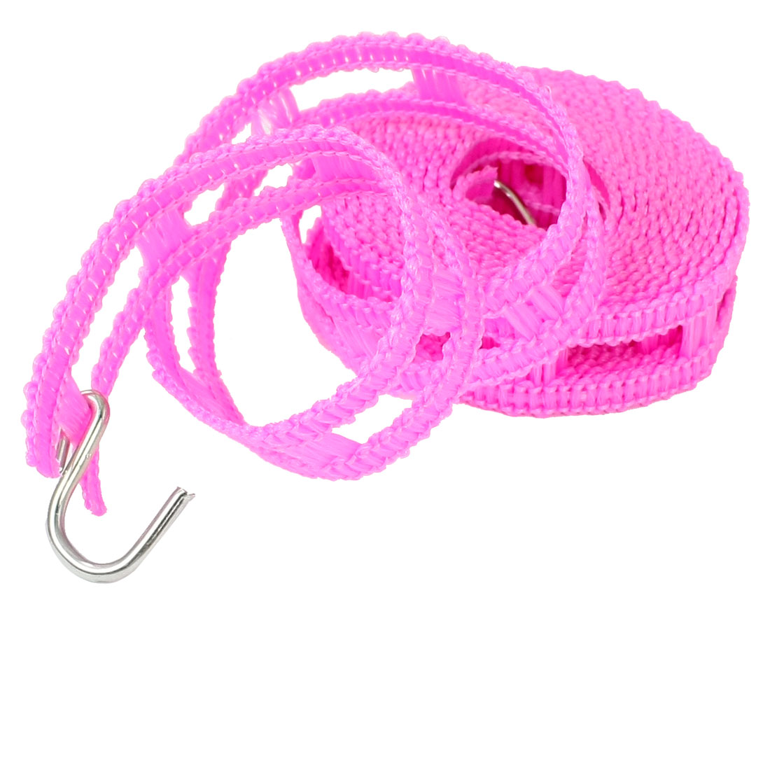 Pink Plastic 2.4M Long Outerdoor Clothes Hanging Line with 2 Hooks