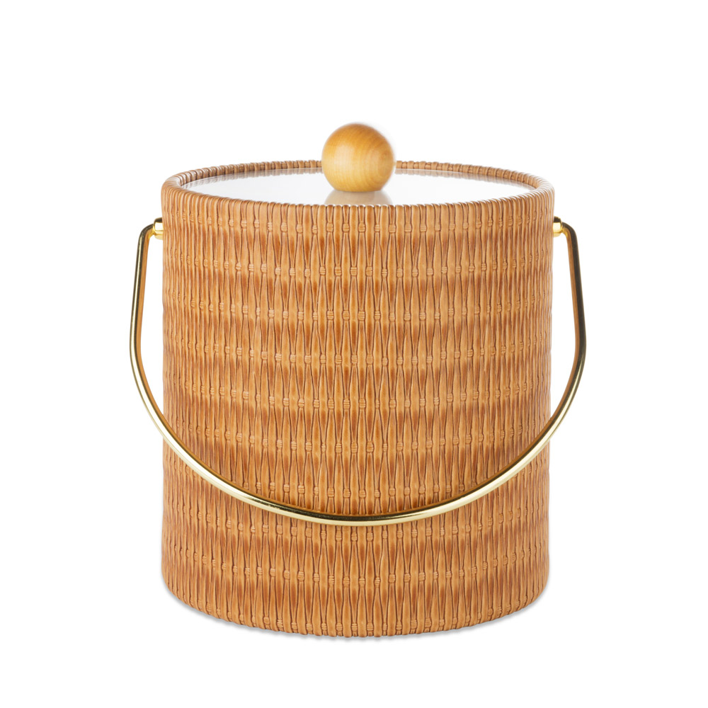 Maldives Peanut Wicker Ice Bucket - 3 Quarts