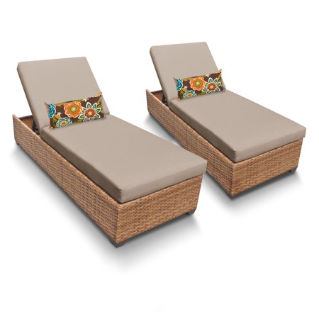 Tuscan Chaise Set of 2 Outdoor Wicker Patio Furniture