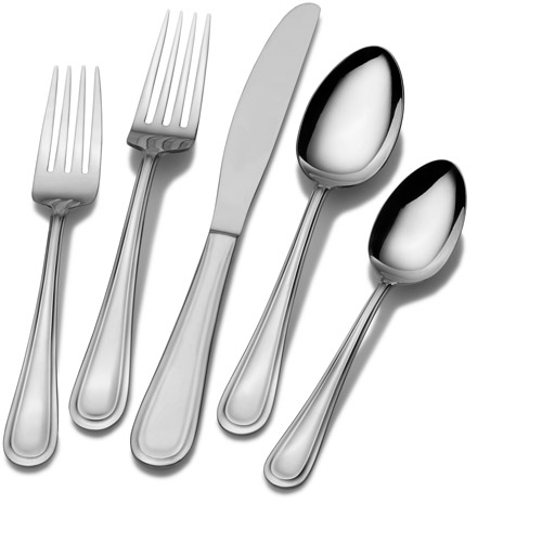 International Silver Forte 45-Piece 18/0 Stainless Steel Flatware Set