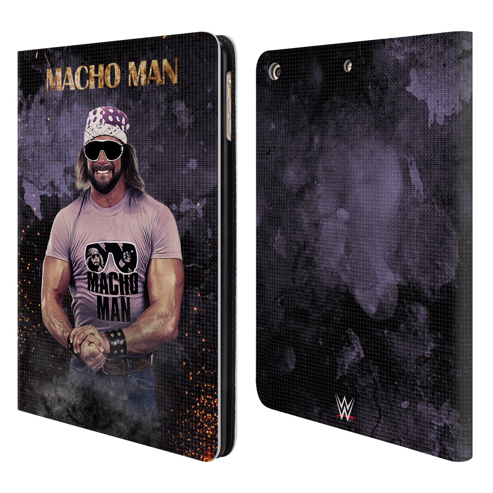 OFFICIAL WWE MACHO MAN RANDY SAVAGE LEATHER BOOK WALLET CASE COVER FOR APPLE IPAD
