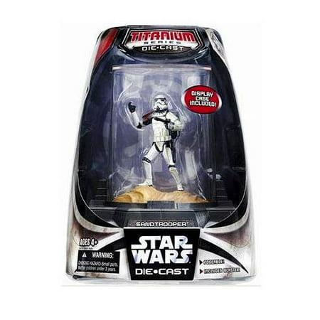 Star Wars Titanium Series 2007 Sandtrooper Diecast Figure  Full Color Finish