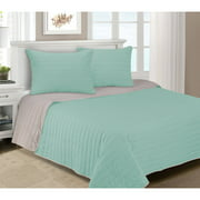 Superior Brandon Soft Cotton Striped Quilt Set