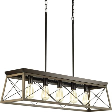 Briarwood Collection Five-light linear chandelier