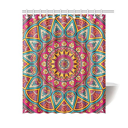 GCKG Ethinic Mandala Polyester Fabric Shower Curtain Bathroom Sets Mandala Home Decor Inches - image 3 of 3