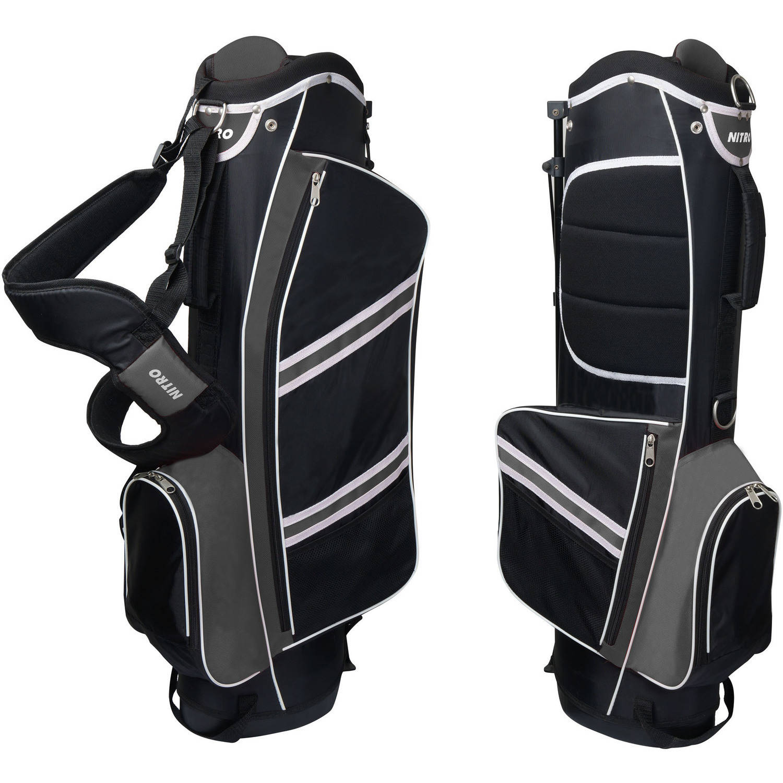 Nitro Lightweight Stand Golf Bag, Black/Silver - Walmart.com