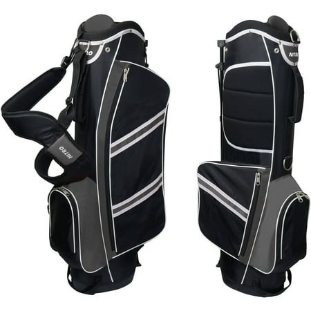 Nitro Lightweight Stand Golf Bag, Black/Silver - Golf Bag Kit