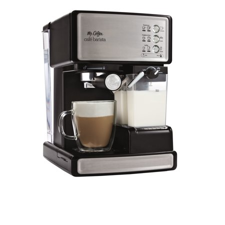 Mr. Coffee Cafe Barista Espresso Maker, BVMC-ECMP1000, Black/Silver