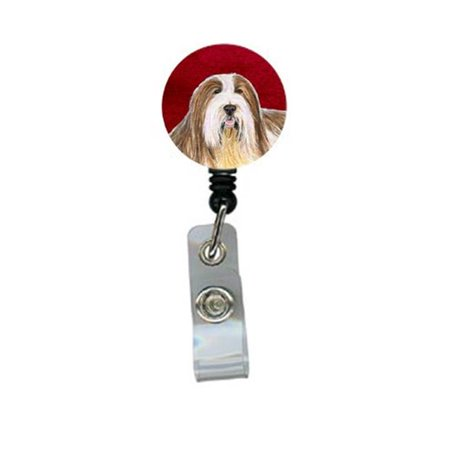 Carolines Treasures SS6021BR Bearded Collie Retractable Badge Reel or ID Holder with Clip - image 1 de 1