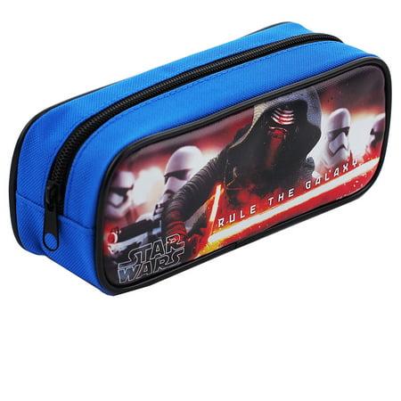 Star Wars Character Single Zipper Blue Pencil - Star Wars Pencil Case