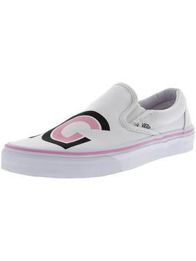 f2be55e46e Product Image Vans Classic Slip-On Sayings True White Ankle-High Canvas  Skateboarding Shoe - 8.5