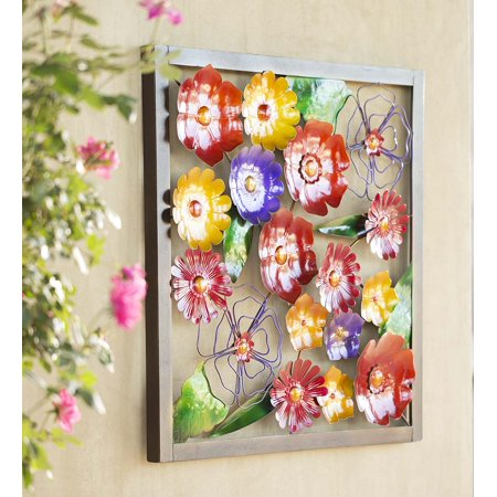 Metal Framed Floral Wall Art - Walmart.com