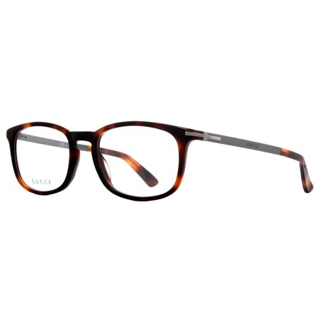 256dfa0cafb Gucci GG 1112 8E2 Brown Havana Matte Ruthenium Unisex Square Eyeglasses 52mm