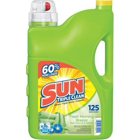 Sun  Fresh Morning Breeze Laundry Detergent 125 Loads 188 Fl Oz Jug