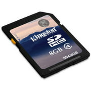 Kingston 8GB SDHC Memory Card, Class 4