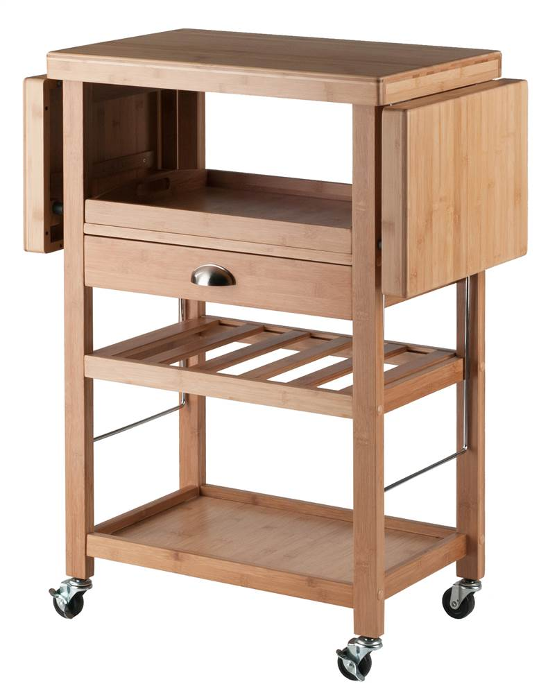 Barton Kitchen Cart, Bamboo by Winsome
