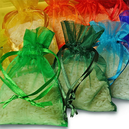 "3""x4"" Organza Wedding Party Favor Gift Candy Sheer Bags Jewelry Pouch 48 Pcs"