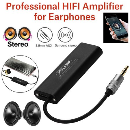 Tuscom Portable HIFI Stereo Audio AMP Headphone Earphone Amplifier 3.5mm AUX For Phone