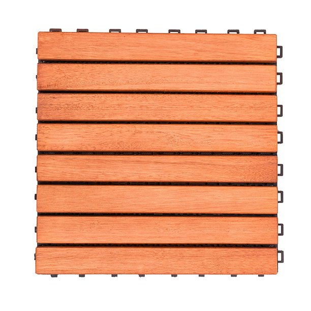Outdoor Patio 8 Slat Eucalyptus, Outdoor Interlocking Tiles For Patio