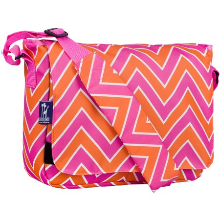 Zigzag Pink 13 Inch x 10 Inch Messenger Bag