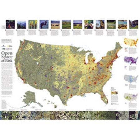 National Geographic Maps Re01020389 Landscope Usa Conservation Map
