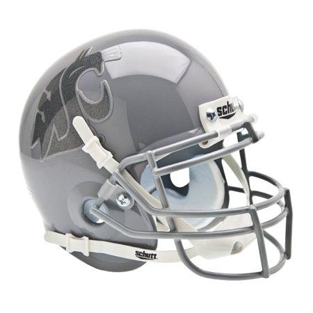 Washington State Cougars NCAA Authentic Mini 1/4 Size Helmet (Alternate Gray 1) - Cougar Helmet