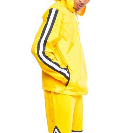 e117ae37e Genx - Mens Dope Lightweight Windbreaker Colorblock Pullover Hoodie Jacket  18121-5142 - Walmart.com
