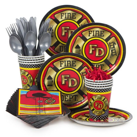 Firefighter Party Standard Kit (Serves 8) - Party Supplies (Fire Party Supplies)