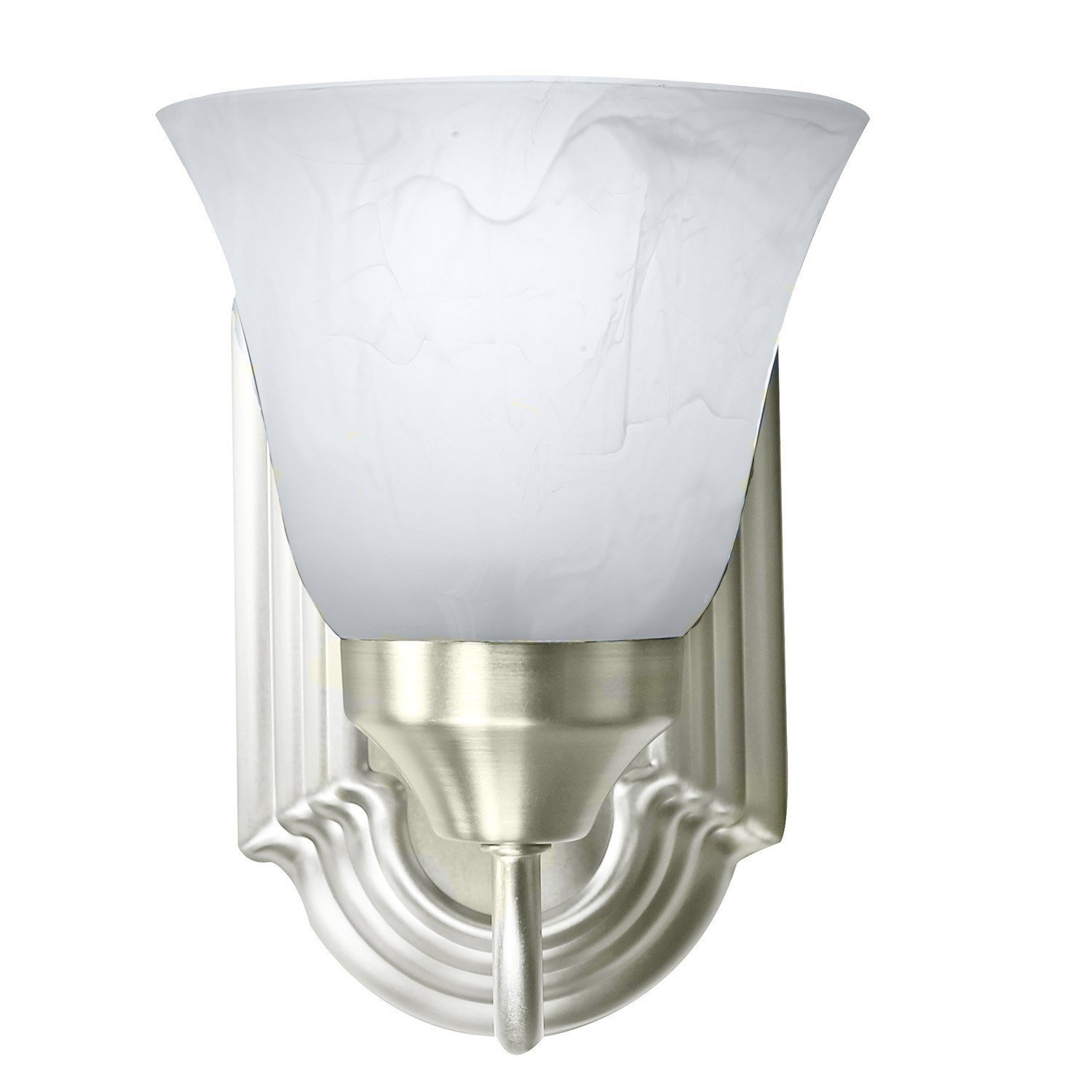 Click here to buy Bennington Luna Wall Sconce Light Fixture Single Light Vanity, Brushed Nickel.