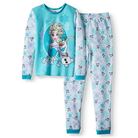 Girl's Frozen 2 Piece Thermal Pajama Sleep Set (Big Girls & Little Girls) (Frozen 2)