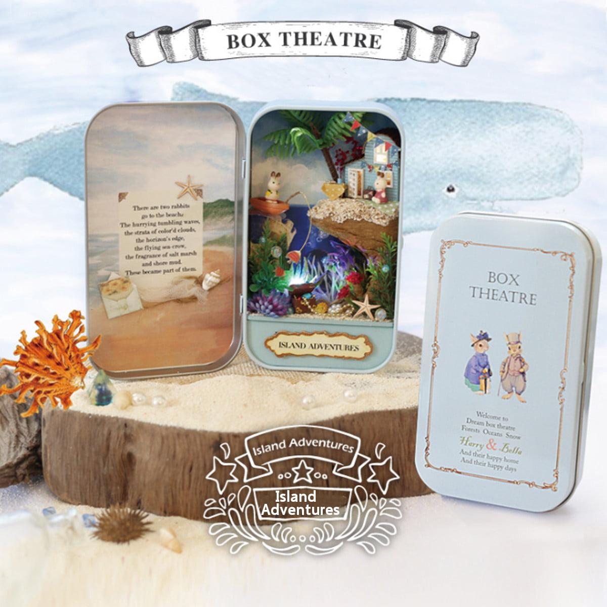 3D DIY Miniature Wooden Puzzle Dollhouse Xmas Gift Snow Dream Box Theatre Toys