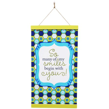 So Many Of My Smiles Begin with Yours! Wall or Door Hanging Banner 18X32