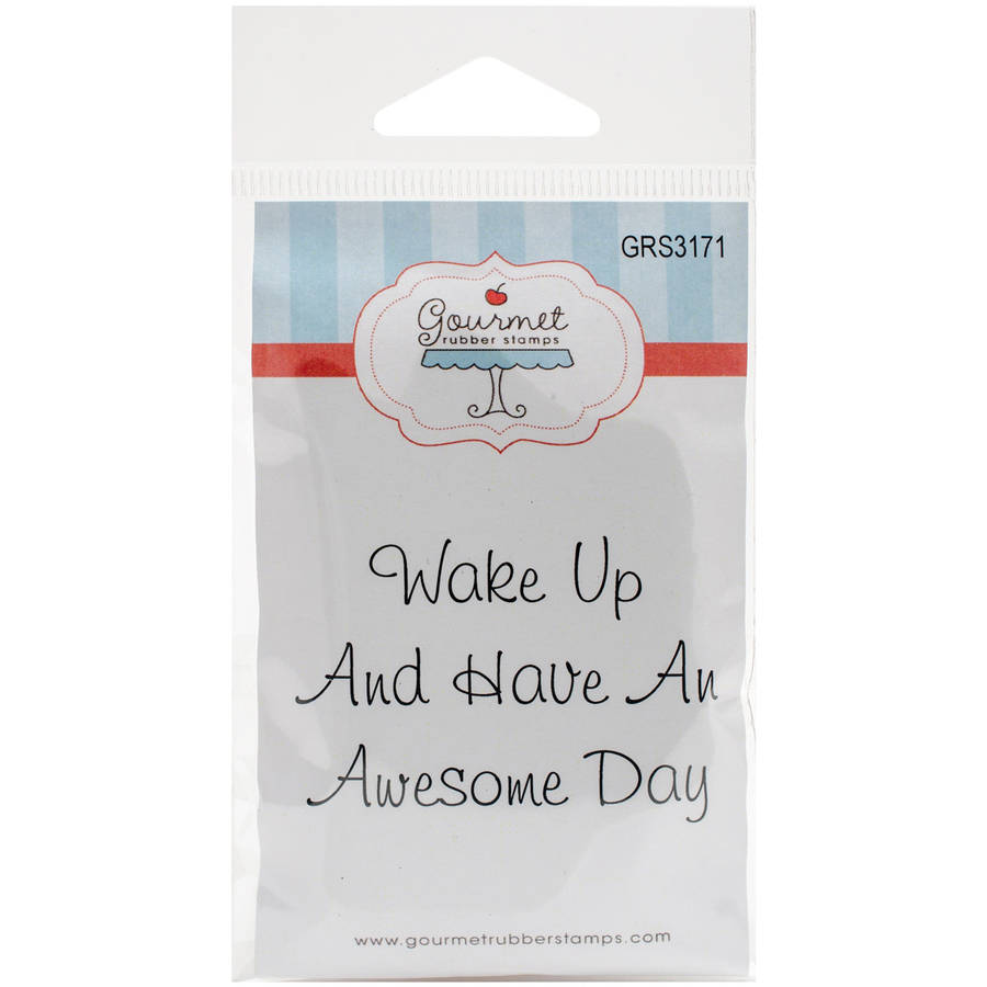 "Gourmet Rubber Stamps Cling Stamps, 3.75"" x 4.75"""