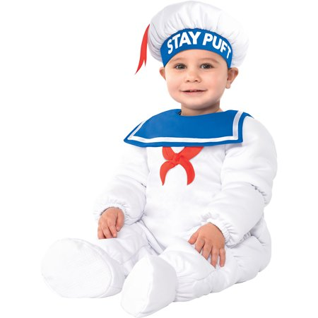 Easiest Halloween Costumes Male (Party City Padded Stay Puft Marshmallow Man Halloween Costume for Babies, Ghostbusters with)